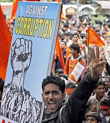 A rally against corruption