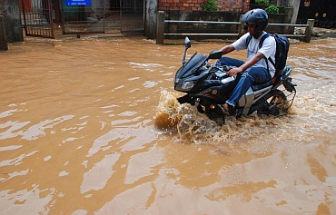 Roads including R G Baruah Road, A T Road, Hangerabari Road, Japorigog-Nayanpur Road, F C Road are still flooded