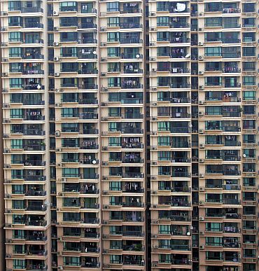A view of a residential building in Shanghai