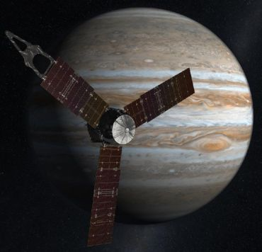 With its suite of science instruments, Juno will investigate the existence of a solid planetary core, map Jupiter's intense magnetic field, measure the amount of water and ammonia in the deep atmosphere, and observe the planet's auroras.