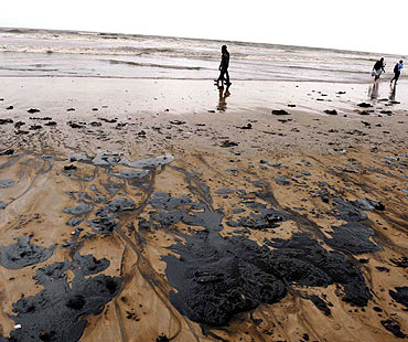 BMC has initiated measures to clean up the beaches affected by the spill