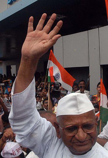 Anna Hazare in Mumbai
