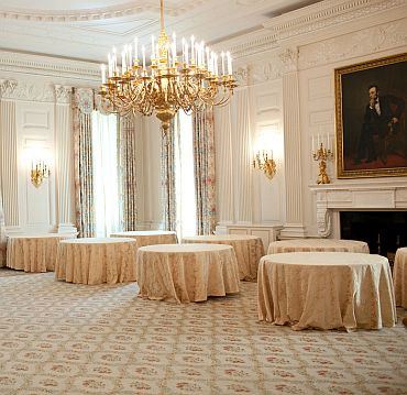 The State Dining Room can host 140 guests