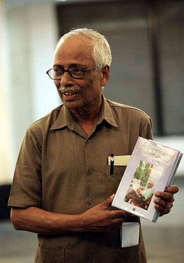 B M Kutty with his book