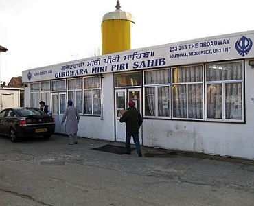 Outside view of privately owned Gurdwara Miri-Piri, Southall