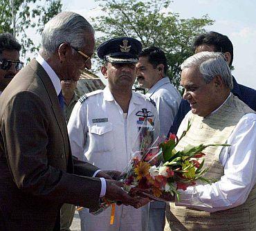 Alexander with then Prime Minister Atal Bihari Vajpayee