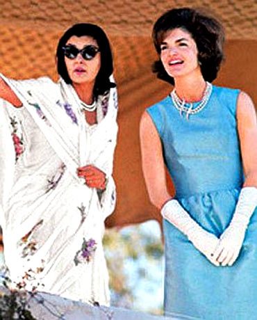 Rajmata Gayatri Devi of Jaipur with then US First Lady Jacqueline Kennedy