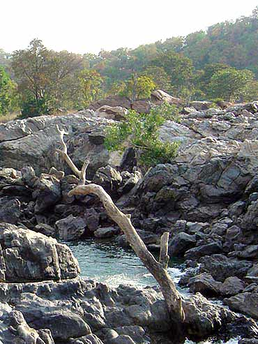 Mekedatu, where the Kaveri and Arkavati rivers merge in Karnataka