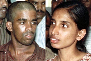 The apex court had confirmed the death sentence of Murugan (left), Santhan and Perarivalan while commuting Nalini's (right) sentence to life imprisonment.
