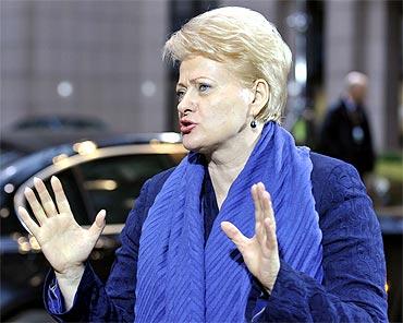 Dalia Grybauskaite, President of Lithunia