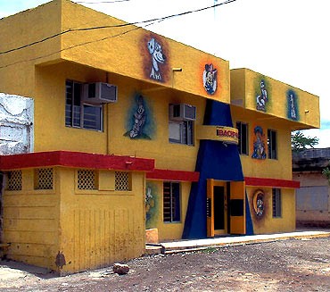 Bachpan, a nursery school, operates within the complex