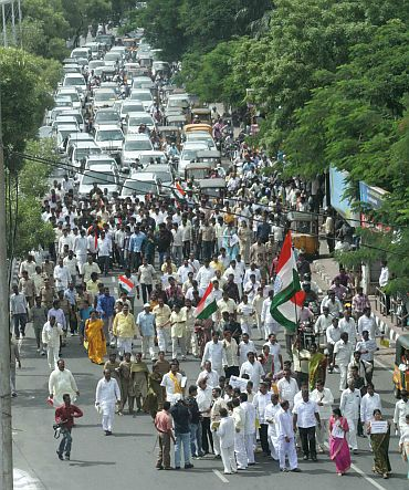 Another protest rally in Hyderabad