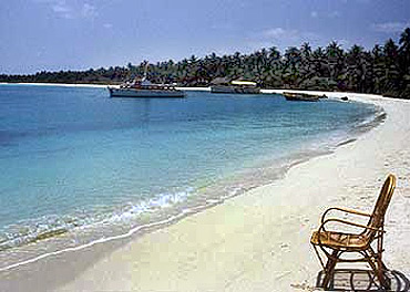 Minicoy island at the southern-most tip of Lakshadweep