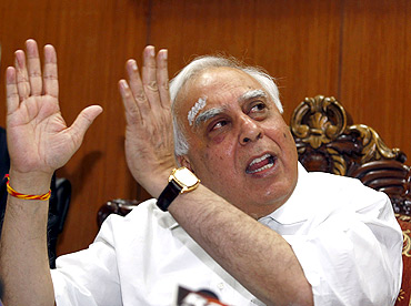 Telecom Minister Kapil Sibal