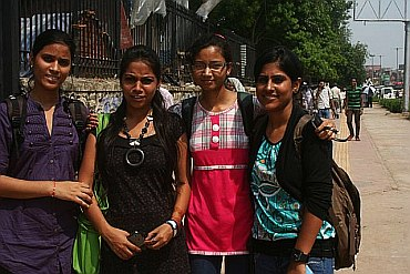 Jyoti Pathak (in a red top)