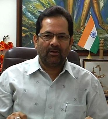 BJP national spokesman Mukhtar Abbas Naqvi