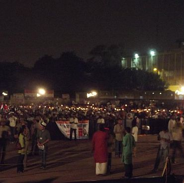 Wet, hungry, sleepless night @ Ramlila maidan