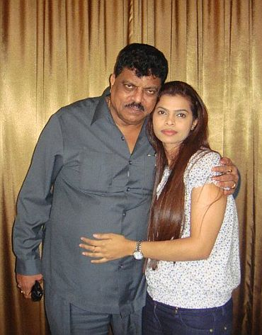 Churchill Alemao with daughter Valanka