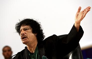 Libya's Colonel Muammar Gaddafi