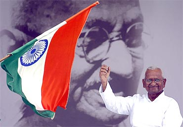 Anna Hazare at Ramlila Maidan