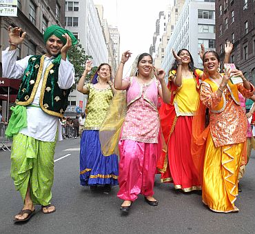 Punjabi folk dancers