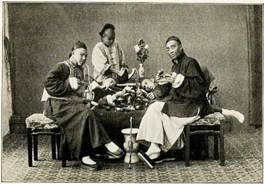 Wealthy 19th century Chinese opium smokers