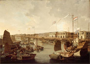 British factories, Canton, part of the Thirteen Hongs, where foreigners were allowed to live