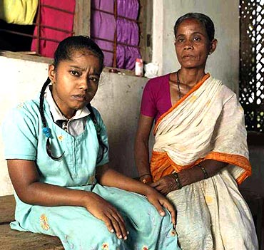 Unable to support herself on her weak, child-size legs, Sujatha lives her life bound to her home.