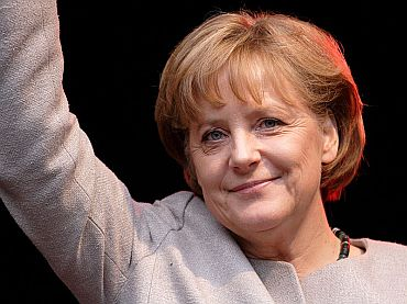 German Chancellor Angela Merkel the most powerful woman