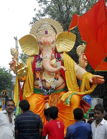 Lord Ganesh in back