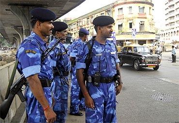 The RAF deployed at Lalbaugh, Mumbai