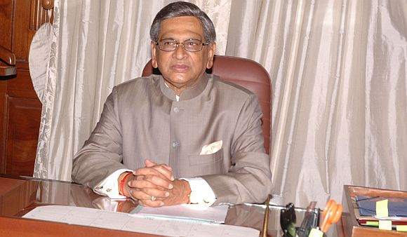 Former Karnataka chief minister and now External Affairs Minister S M Krishna