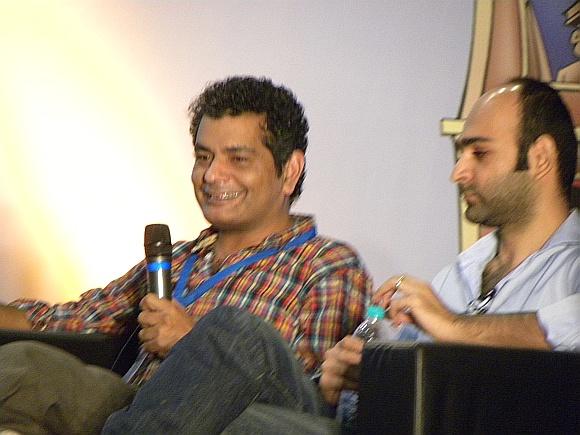 (L) Mohammed Hanif and Mohsin Hamid
