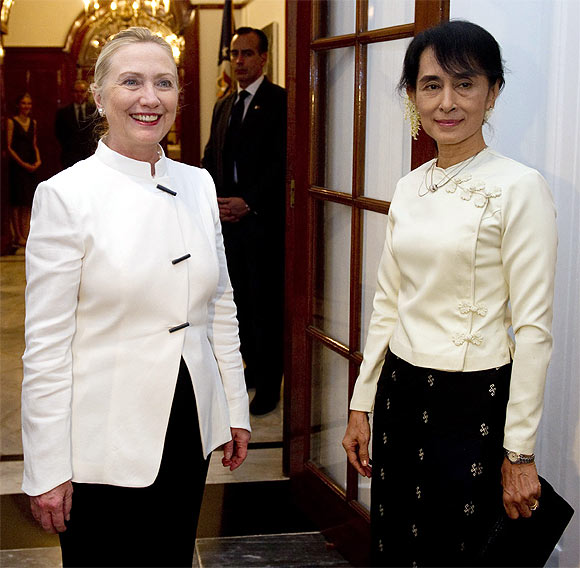 Clinton has often referred to Suu Kyi as a personal inspiration