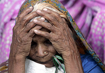 A victim of Bhopal tragedy