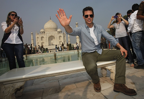 Cruise is on his maiden visit to India to promote his latest movie Mission: Impossible Ghost Protocol ahead of its official world premiere next week