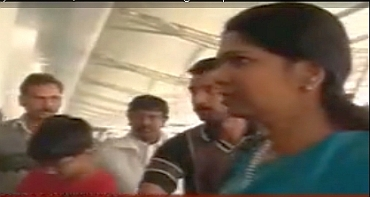 DMK MP Kanimozhi returned to Chennai on Saturday