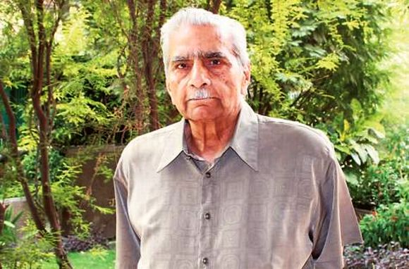 Former Union Minister and Team Anna member Shanti Bhushan