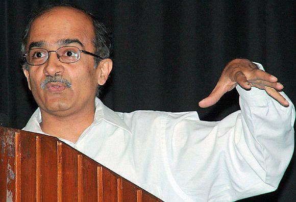 Team Anna member Prashant Bhushan