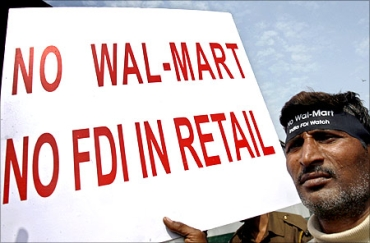 A protest against FDI in retail