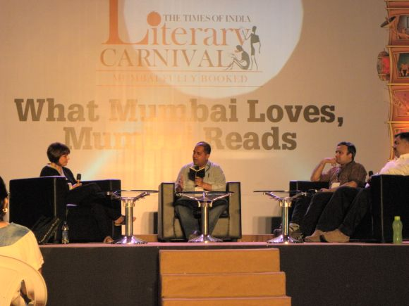 Author S Hussain Zaidi, writer/journalist Jai Arjun Singh and screenwriter, photographer Sooni Taraporevala