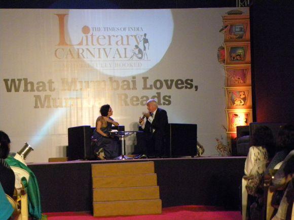 Columnist Bachi Karkaria and author Allan Pease