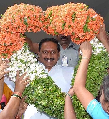 Andhra CM Kiran Kumar Reddy