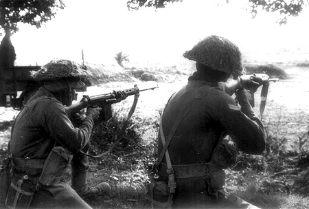 Indian soldiers in action during the 1971 war