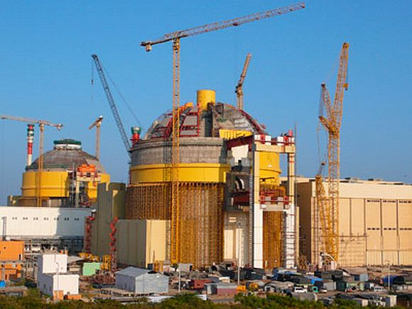 The nuclear reactors at the Koodankulam project in Tamil Nadu