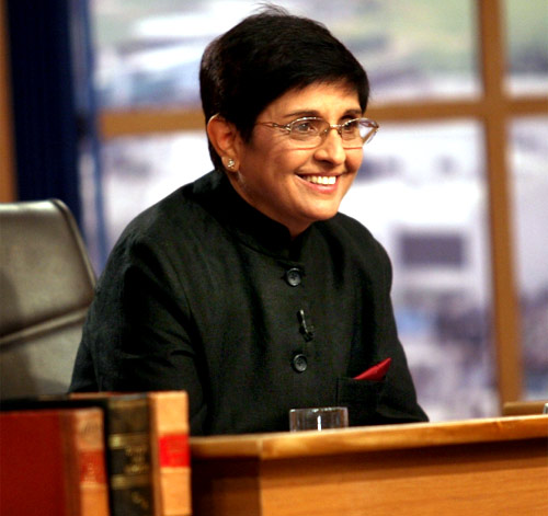 Team Anna member Kiran Bedi who was charged with inflating her travel bills