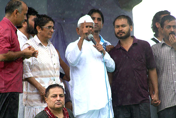 Team Anna with his supporters