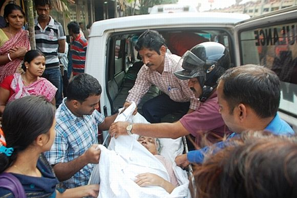 Victims being shifted