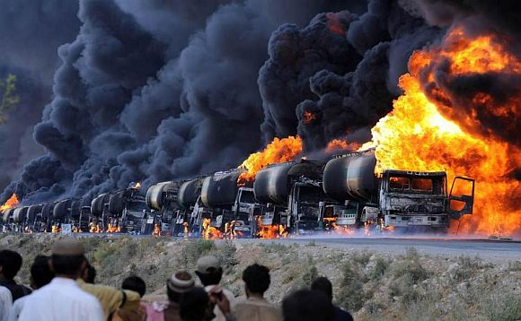 'When they torch oil tankers, it is not our fuel they are torching'