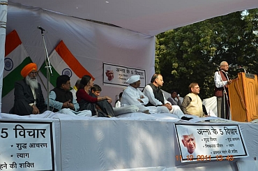 Leaders of opposition participated in the public debate on Lokpal Bill at Jantar Mantar